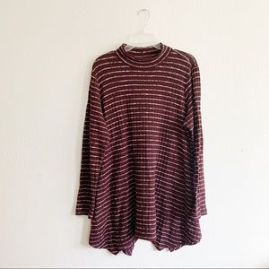LOGO Lori Goldstein Striped Long Sleeve Tunic 1X